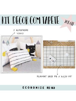 KIT DECOR COM TAPETE