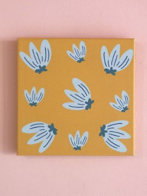 QUADRINHO CANVAS SELVA SUPER FLORES