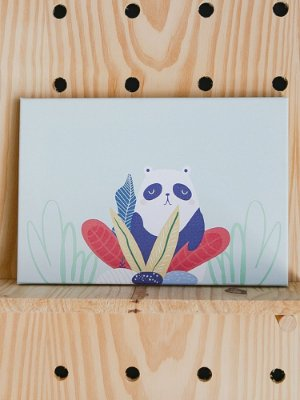 QUADRINHO CANVAS SELVA PANDA