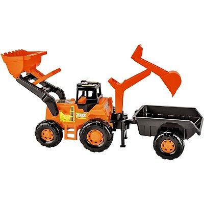 Trator Truck Super Escavadeira - Magic Toys