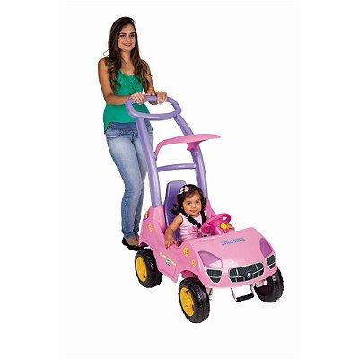 Roller Baby Fit Rosa Som e Luz C/ Empurrador - Magic Toys