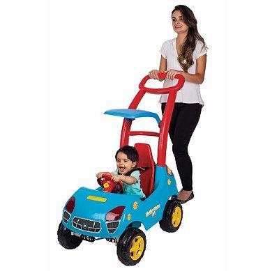 Roller Baby Fit Azul Som e Luz C/ Empurrador - Magic Toys