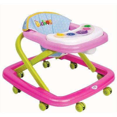 Andador Infantil Para Bebê Rosa - Magic Toys