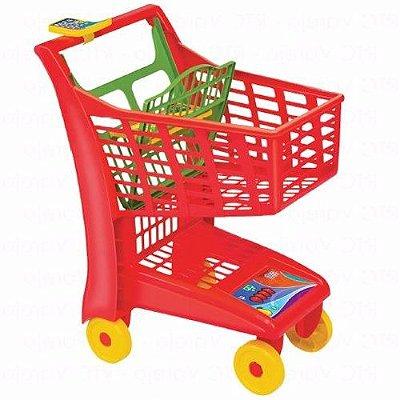 Carrinho de Compras supermercado Infantil Vermelho - Magic Toys