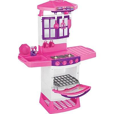 Cozinha Infantil Mágica Eletrônica Rosa - Magic Toys