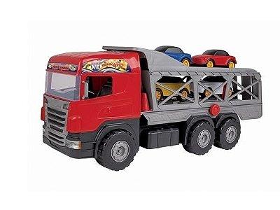 Caminhão Super Cegonha Vermelho - Magic Toys
