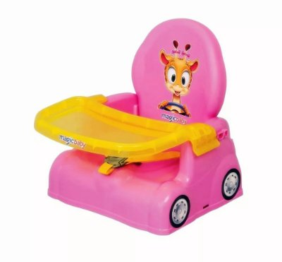 Cadeira Papinha Girafa Rosa - Magic Toys