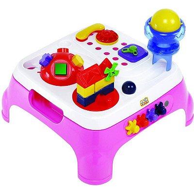 Mesa Maxi Atividades Rosa C/ Som - Magic Toys