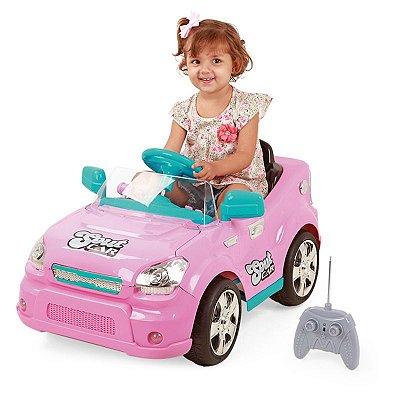 Carro Elétrico Infantil C/ Controle Remoto Rosa - Homeplay