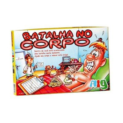 JOGO DE TABULEIRO BATALHA NO CORPO - NIG BRINQUEDOS
