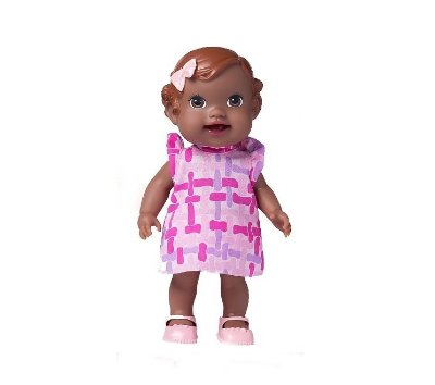 BONECA BABY'S COLLECTION PAPINHA NEGRA- SUPER TOYS