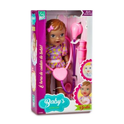 BONECA BABY'S COLLECTION DODÓI NEGRA - SUPER TOYS