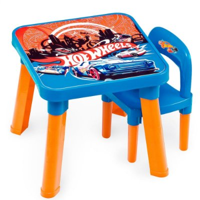 MESA COM CADEIRA HOT WHEELS - FUN
