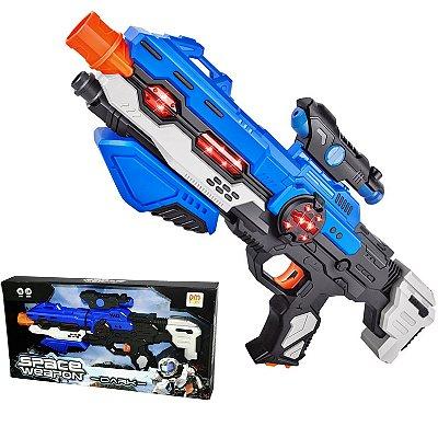 ARMA SPACE WEAPON DARK SUPER COM SOM E LUZ - DM TOYS