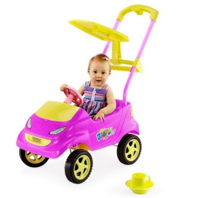 BABY CAR PINK/AMARELO C/ ACESS  - HOMEPLAY