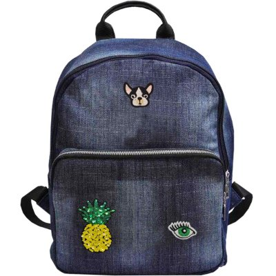 "MOCHILA JEANS PATCHES 14,5"" - YEPP"