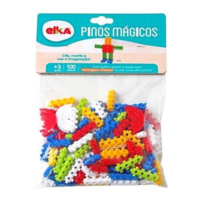 PINOS MÁGICOS 100 PEÇAS - ELKA BRINQUEDOS