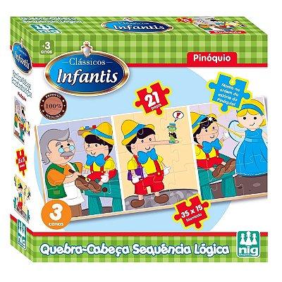 QUEBRA CABEÇA INFANTIL PINÓQUIO - NIG BRINQUEDOS