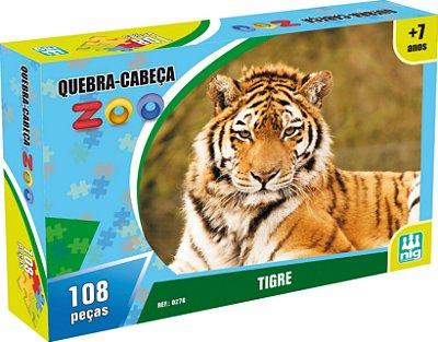 QUEBRA CABEÇA ZOO TIGRE 108 PEÇAS - NIG BRINQUEDOS