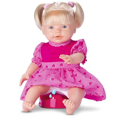 BONECA BABY PEE FAZ XIXI - OMG KIDS