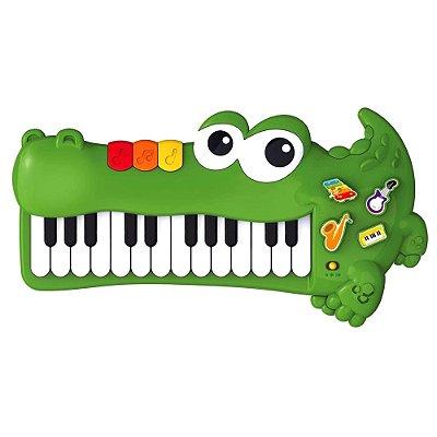 PIANO MUSICAL JACARÉ - BRASKIT