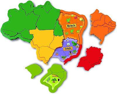 QUEBRA CABEÇA MAPA DO BRASIL 3D - ELKA BRINQUEDOS
