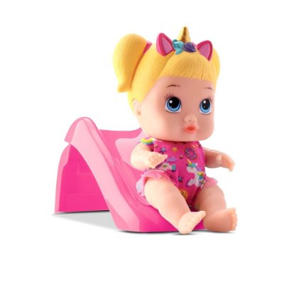 BONECA LITTLE DOLLS PLAYGROUND ESCORREGADOR - DIVERTOYS