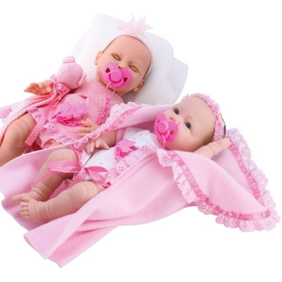 KIT BONECA NEW BORN FAZ XIXI + NEW BORN DENGO - DIVERTOYS