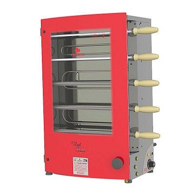 Churrasqueira Rotativa Elétrica Vermelha PRR-051 E Progás