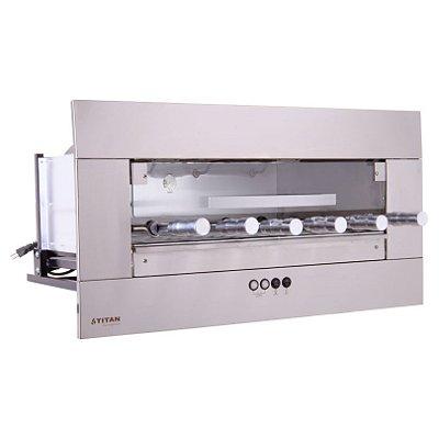 Churrasqueira Elétrica de Embutir 6 Espetos Inox AEE-06 Titan