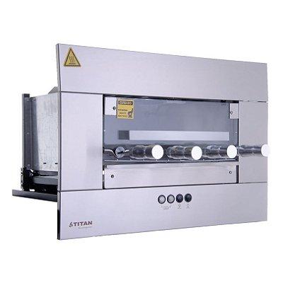 Churrasqueira Elétrica de Embutir 4 Espetos Inox AEE-04 Titan