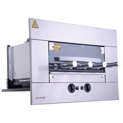 Churrasqueira a Gás de Embutir 4 Espetos Inox AGE-04 Titan