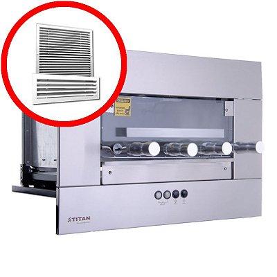 Churrasqueira Elétrica de Embutir 4 Espetos Inox AEE-04 Com Kit Ventilação Titan