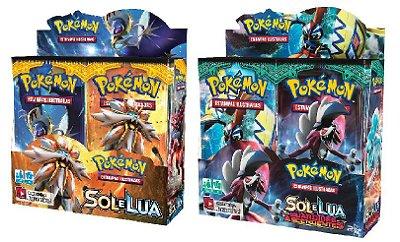 KIT BOOSTER BOX SOL E LUA 1 + SOL E LUA 2