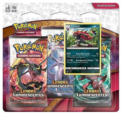 Pokémon Blister Triplo Zoroark - Lendas Luminescentes