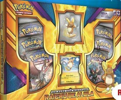 Pokémon - Box Raichu de Alola c/ Miniatura