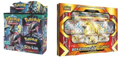 Pokémon - 1 Booster Sol e Lua 2 + 1 Box Arcanine