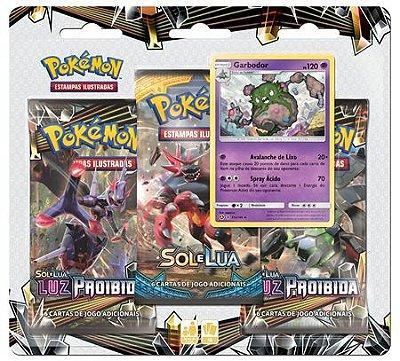 Pokémon Blister Triplo Sol e Lua 6 - Luz Proibida