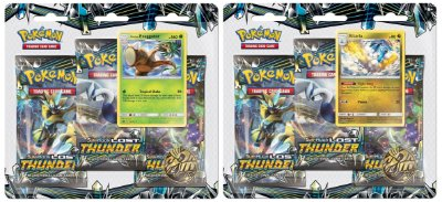 Pokémon Blister Triplo Sol e Lua 8 - Trovões Perdidos