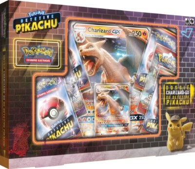 Box Detetive Pikachu - Charizard GX