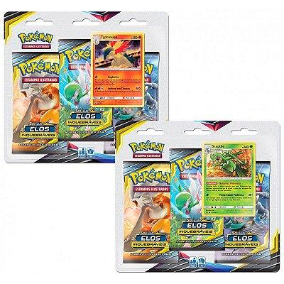 Pokémon Blister Triplo Sol e Lua 10 - Elos Inquebráveis