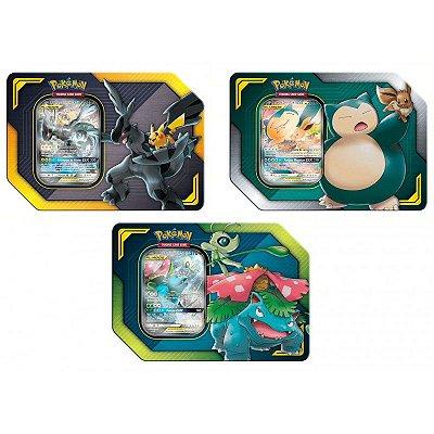 Conjunto de Latas Pokémon Aliados GX