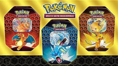 Pokémon - Kit 3 Latas Destinos Ocultos