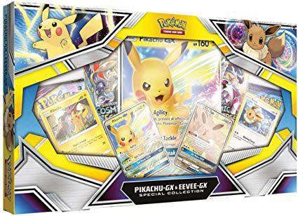 Box Pokemon - Pikachu-Gx & Eevee-Gx Coleção Especial