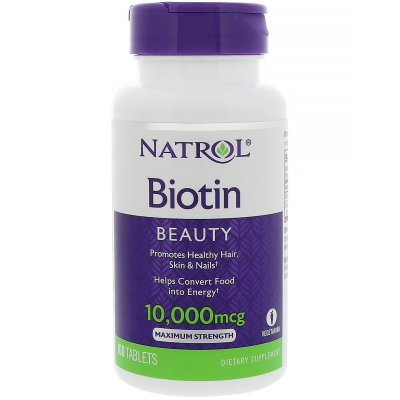 Biotina 10.000 mcg 100 Cápsulas Natrol - Pronta entrega - Brasil