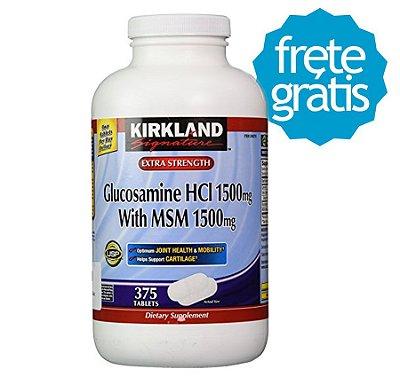 Glucosamina 1500mg + MSM 1500mg Kirkland 375 cap (Pronta Entrega)
