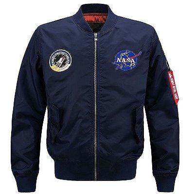Jaqueta / Blusa Oficial Nasa Astronauta Importada - Azul Escuro - M