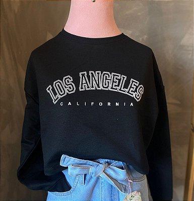 Moletom cropped LOS ANGELES