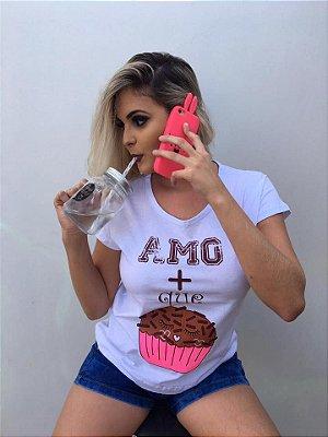 T-shirt Amo + que Brigadeiro