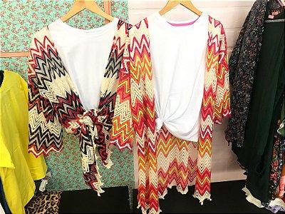 Kimono Renda crochê